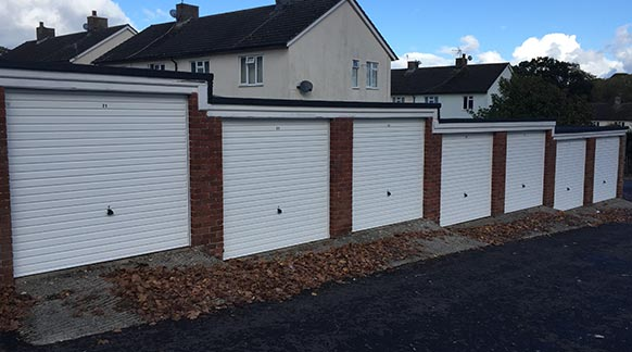 Secure by Design Up & Over Garage Doors on Aster Property
